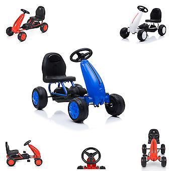 Moni Kids Go Kart Pedal Car Blaze Plastic Band Hoge Rugleuning vanaf 18maanden