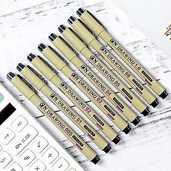8 Pigment mixte d'esquisse de micron - stylos d'esquisse de fineliner