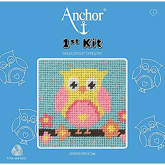 Anchor Tapestry Kit: 1st Kit: Owl