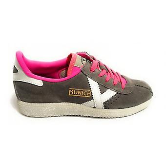 Shoes Women Munich Sneaker Barru Suede Grey Color/ Fuchsia U18mu27