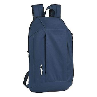 Casual backpack safta navy blue