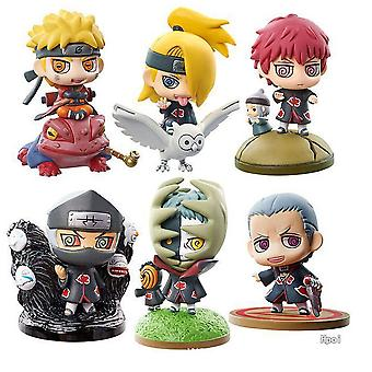 6pcs Figure Set Naruto Lovely Standing Toy Doll Anime Collection