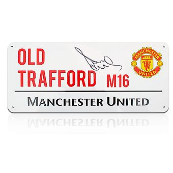 Paul Scholes Signed Manchester United Street Sign