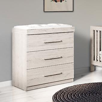 Ickle Bubba Grantham Chest of Drawers and Changer - Grey Oak