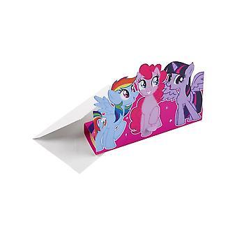 8 Cartons d'invitation My Little Pony