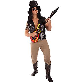 Orion kostuums mens Guns N ' Roses Slash Rock 80s fancy dress kostuum