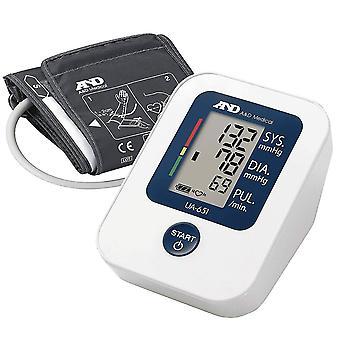A&D UA651 Blodtrycksmätare för överarmen med IBH-detektering och inbyggt minne