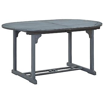 vidaXL table de jardin gris 200x100x74 cm bois massif acacia