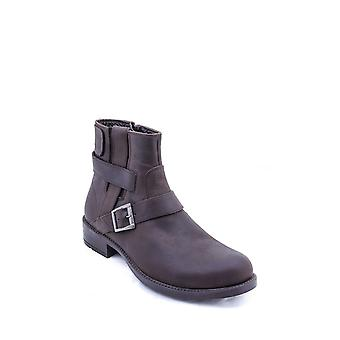 Leather buckled brown boots | wessi