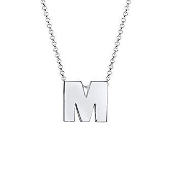 Elli halskæde kvinde bogstav M små initialer i sølv 925