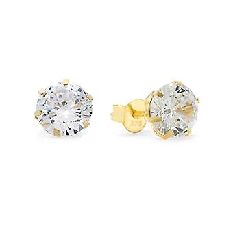 Amor - Pendientes de mujer en oro 375, con zircón blanco