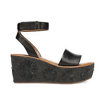 Franco Sarto Womens Jovie Leather Open Toe Casual Platform Sandals