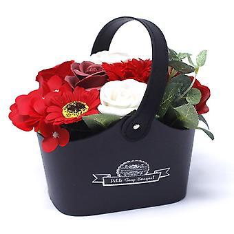 Bouquet Petite Basket - Soothing Blues ( Soap Flower)