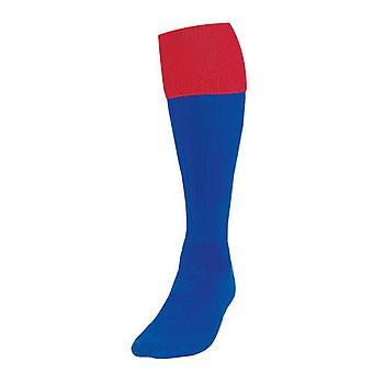 Presný obrat Futbalové ponožky Royal /Red UK Veľkosť 7-11