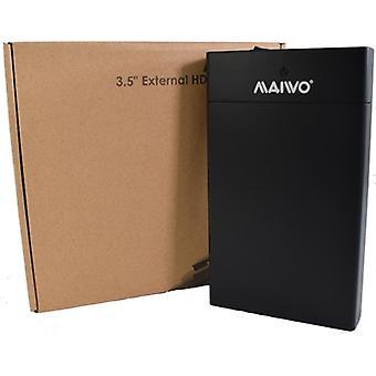 Maiwo USB 3.0 3.5 inch externe harde schijfbehuizing- zwart - met voedingsadapter