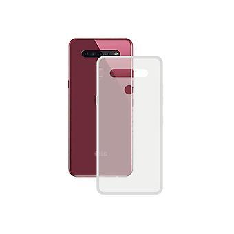 غطاء المحمول LG K51S الاتصال TPU شفافة