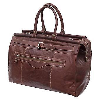 Primehide lujo genuino cuero bolsa de viaje Holdall