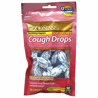 Good Sense Cough Drops Black Cherry Sugar Free, Sugar Free 25 Drops