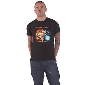 Mortal Kombat T Shirt Mortal Kombat Fire And Ice Logo new Official Mens Black