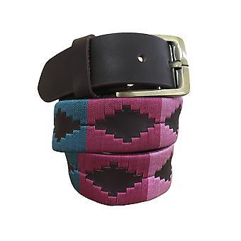 Carlos Díaz cinturón de cuero marrón awo33477
