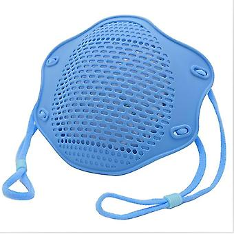 5Kpl sininen kn95 suoja maski elintarvikelaatuinen silikoni naamio viisikerroksinen suodatin pölysuojamaski az10955