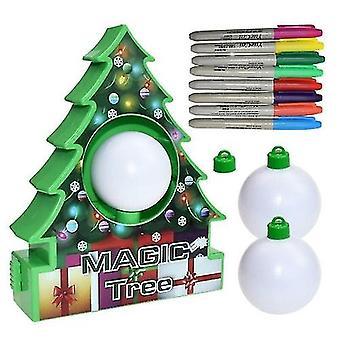 Christmas Tree Painting Ball Kids Handmade Diy Jewelry Kit