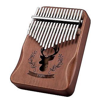 17 Keys Kalimba Thumb Piano Deer Paint Wooden Musical Instrument For Children