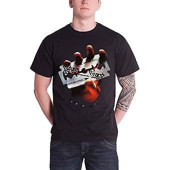 Judas sacerdote T camisa británica acero Logo álbum cubierta oficial Mens negro nuevo