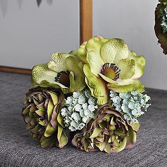 Nordic Peony Anemone Wedding Bridal Bouquet