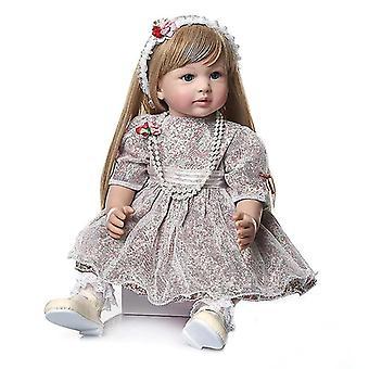 60Cm kiváló minőségű gyűjthető baba hercegnő újjászületett kisgyermek lány baba ultra hosszú szőke haj baba kézzel készített baba