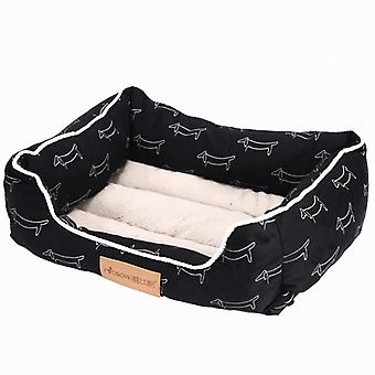 Dog kennel cotton printed cushion dog bed