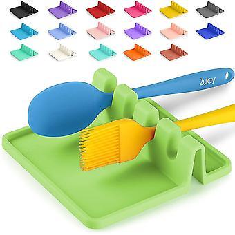 Silicone Utensil Rest With Drip Pad For Multiple Utensils, Kitchen Utensil Holder(Green)