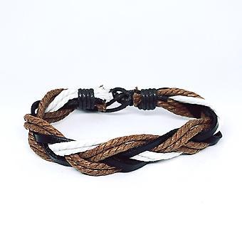 Bracelet tressé avec cordes et bracelets en cuir