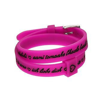 Il mezzometro i love you silver silicone bracelet  bm1708