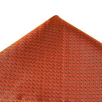 タイプラネット トレサンティ オレンジ シェブロン パターン シルク ポケット スクエア ハンカチ