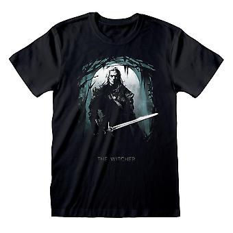 The Witcher Unisex Adult Moon Silhouette T-Shirt