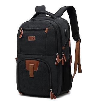 Poso Laptop Backpack 17.3 Inch Computer Bag With Usb Port Water-resistant Business Rucksack Hiking Knapsack ,grey