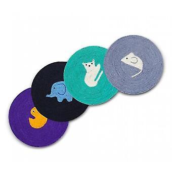 Katze Scratch Pad Teppich Katze Scratcher süße Runde Schale neue Haustier liefert
