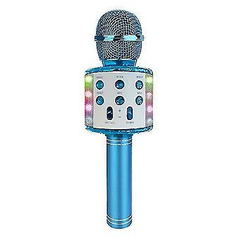 Langaton Bluetooth-mikrofoni led-valoilla (sininen)