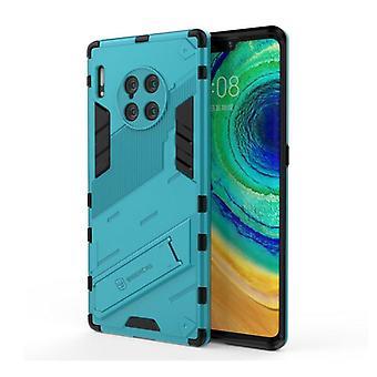 BIBERCAS Xiaomi Mi 11 Lite Case with Kickstand - Shockproof Armor Case Cover TPU Blue