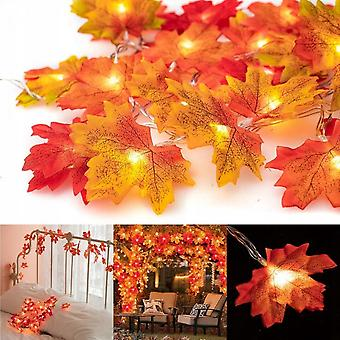 Artificially Decorated Maple Leaves In Autumn, 200 Pieces Of Various Artificial Maple Leaves Mixed With Autumn Colors, Used For Wedding, Thanksgiving,