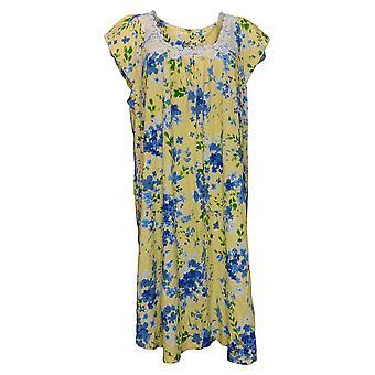 Aria Women's Dress Reg Short Sleeve Floral Yellow 637166