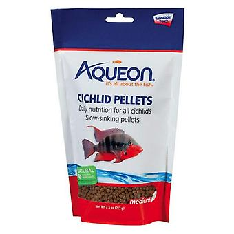 Aqueon Medium Cichlid Food Pellets - 7.5 oz