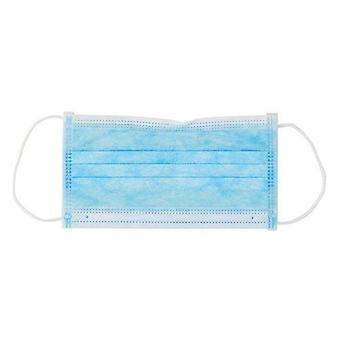 DEO Face Mask - Blue - High Filtration & Breathability - 3 Ply - Pack of 50
