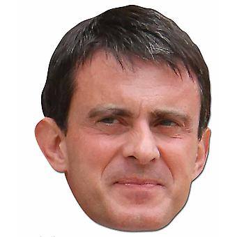 Manuel Valls French Politician 2D Card Party Fancy Dress Mask