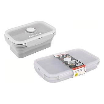 Rechthoekige Lunchbox met Deksel Quttin Opvouwbaar 1200 ml (22 x 14 cm)