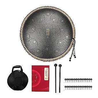 Tambour à langue en acier 12,5 pouces 15 tons handpan tambours languette kit percussion instruments de musique