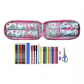Backpack Pencil Case Glow Lab Silver (33 Pieces)