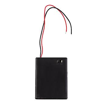 Портативный и мини-аккумулятор Srorage Box Держатель 4шт Aaa Чехол для батареи с крышкой и переключателем
