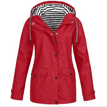 Vízálló esőkabát hölgyek kültéri szél esőerdő kabát kabát